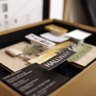 Diploma of Interior Design- material boards