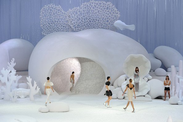 Chanel Spring/Summer 2012 catwalk and set design